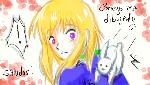 Reiko y el conejito by orochii-chaan