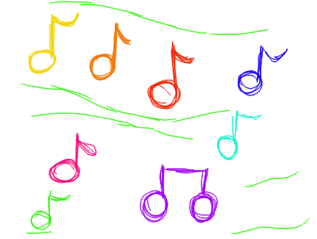 how to draw creative music notes