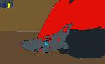 Zoroark hurt by Mewtwofangirl