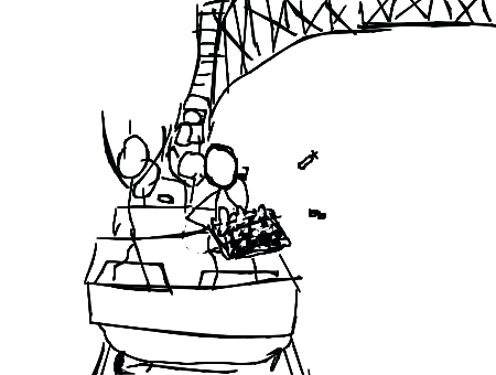 how to draw a roller coaster model