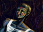 Bagunca com tinta e homem azul by joseanderson